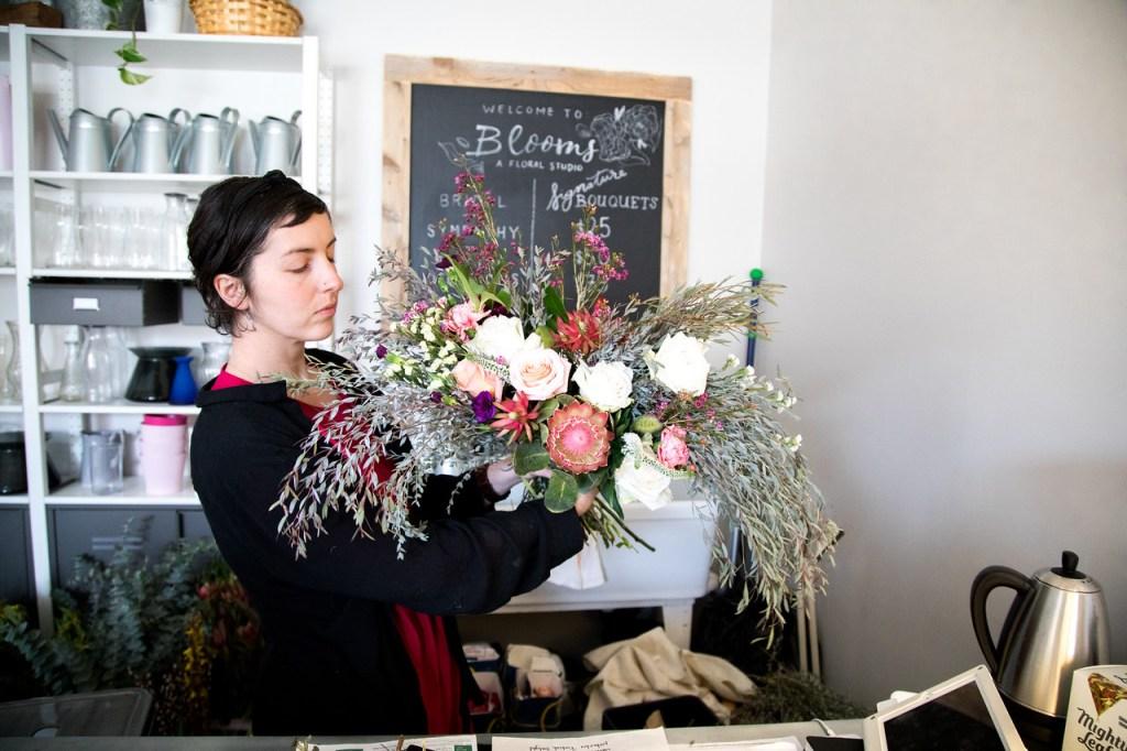 Charise, Florist at Blooms by Wildwood, Indianapolis. Blog: Bighairandfoodiefare.com : Photographer: Kayle Creighton Photography