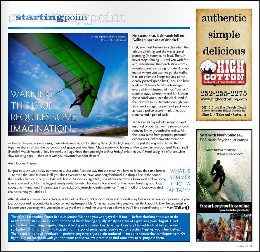 Home Design Editorial Calendar 2016: Outer Banks Website And Graphic Designer, Ben Miller Of