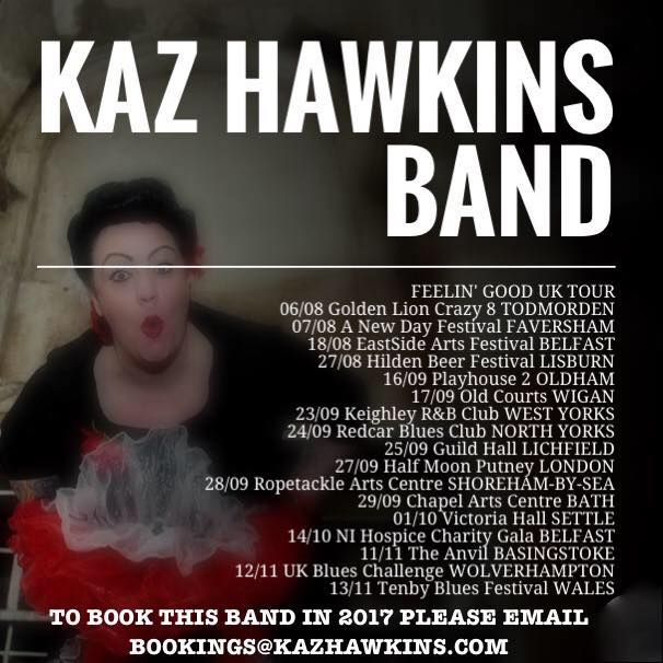 Kaz Hawkins Autumn Tour 2016