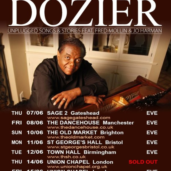 Lamont Dozier – Launches Album, Supported by Debut UK Tour