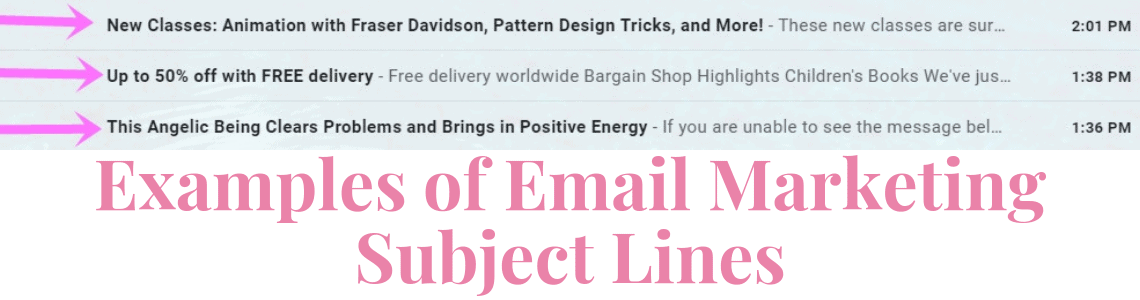 Here are some subject line examples