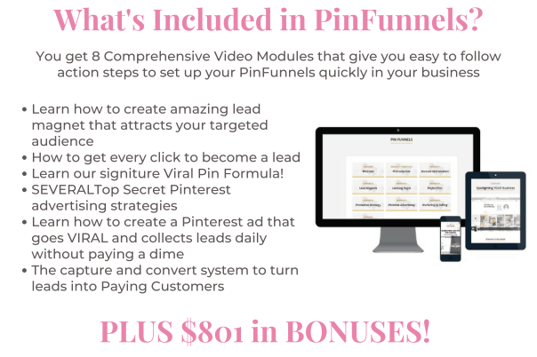 Pinterest for Business - What's included in PinFunnels