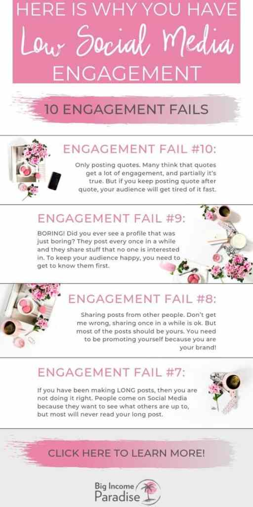 why you're failing to get social media engagementinfographics