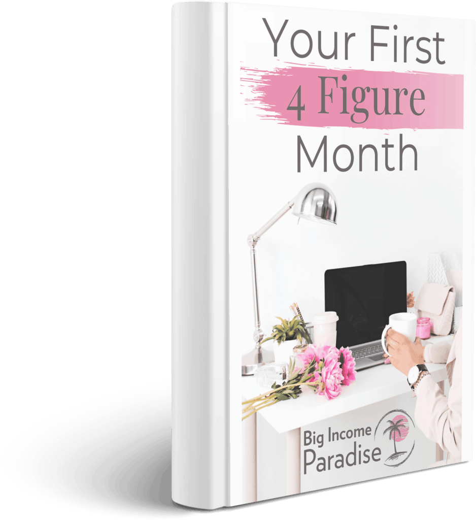 Your First 4 Figure Month e-book cover
