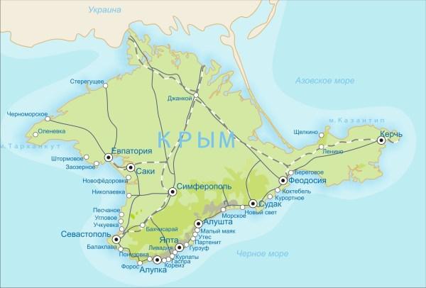 Карта Крыма | Крым на карте мира онлайн