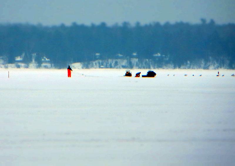Ice Fishing Lake Superior
