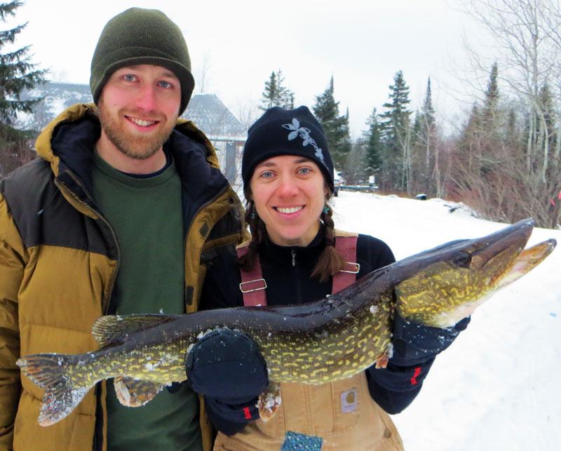 ice fishing northern pike in minnesota