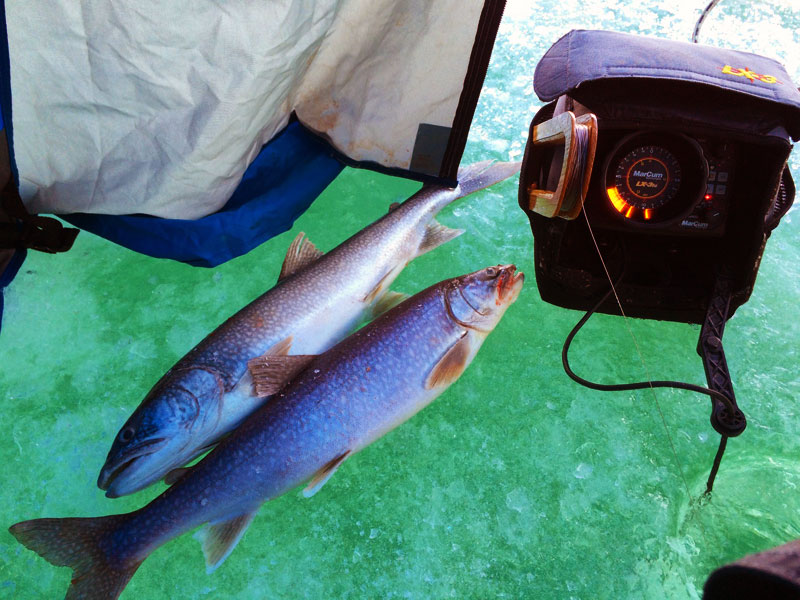 Ice Fishing Lake Trout on Lake Superior