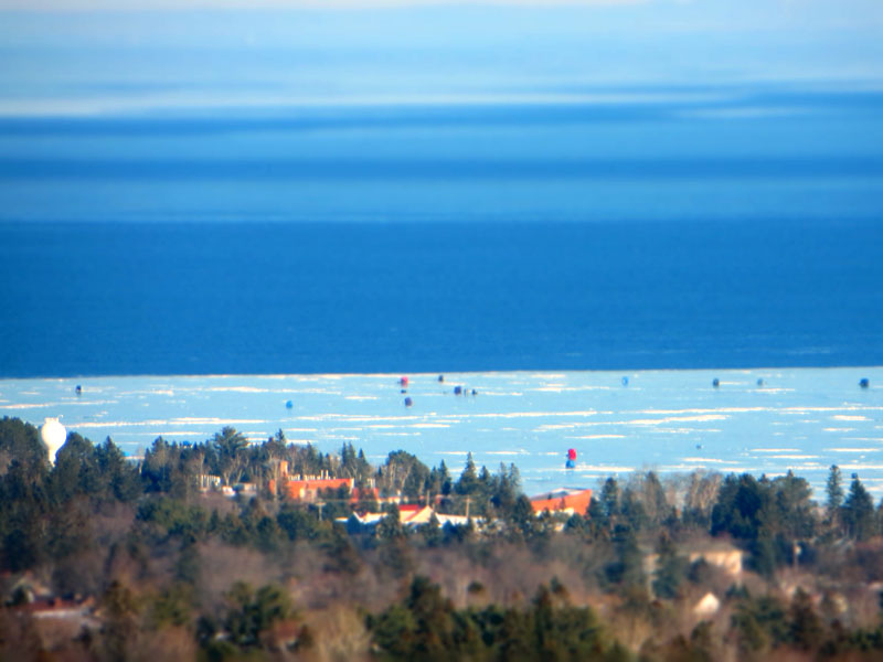 Ice Fishing Lake Superior in Duluth Minnesota