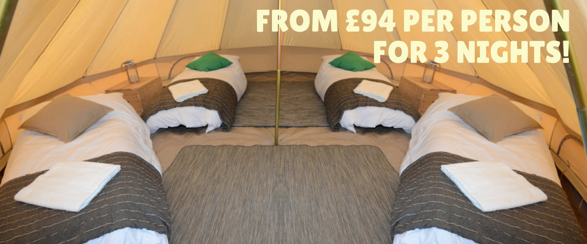 Luxury bell tent.