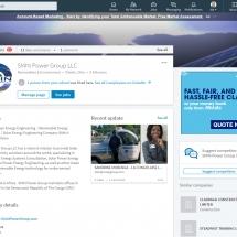 Social Media, LinkedIn Page Design, Management