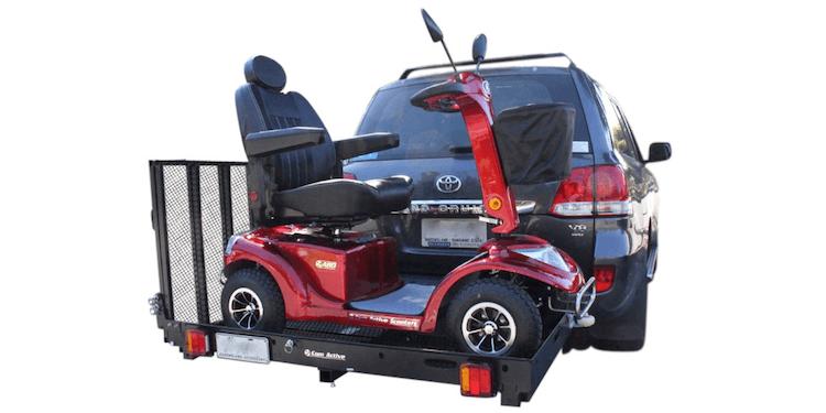 Mobility scooter rack - back slide