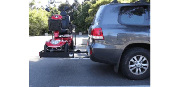 mobility scooter rack - side 2 slide