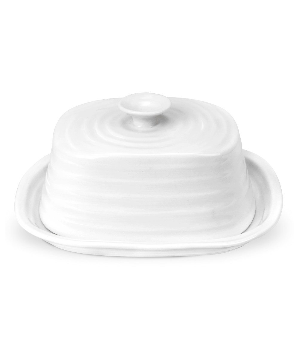 Covered Butter Dish White