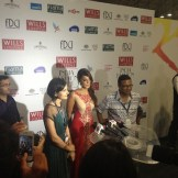The Designers & Bollywood star at Indian Fashion week (Delhi, India)