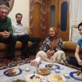 My wonderful hosts Behrouz, Pary and Parisa (Zahedan, Iran)