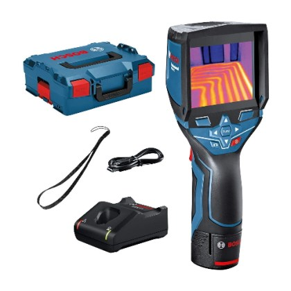Bosch Professional Thermal Camera GTC 400 C (with App Function, Temperature Range: -10°C to +400°C, Resolution: 160 x 120px, 12 V Battery, in L-Boxx)
