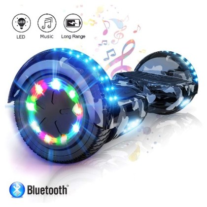 COLORWAY Self Balancing Scooter 6.5 inch – Segway Electric Scooter – Hoverboard – Bluetooth Speaker LED lights & 700W Motor Gift for kids