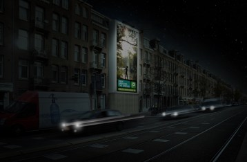 Big Outdoor Media steigerdoekreclame locatie Overtoom Amsterdam