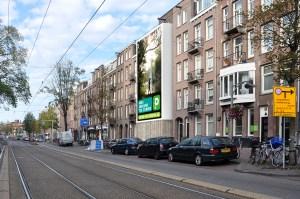 Big Outdoor Media steigerdoekreclame locatie Overtoom Amsterdam