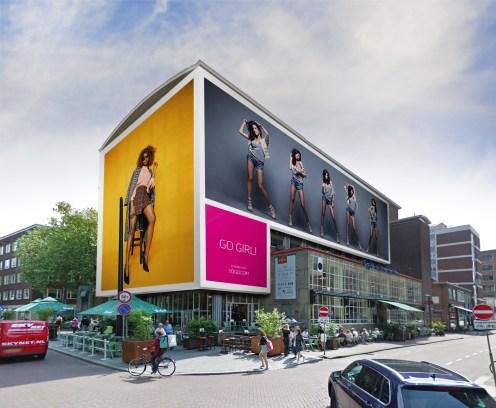 Big Outdoor Media steigerdoekreclame locatie De Meent 88 Rotterdam