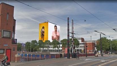 steigerdoekreclame Weesperzijde Amsterdam