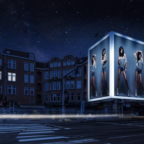 Big Outdoor Media steigerdoekreclame Locatie Amstelveense 212, Amsterdam