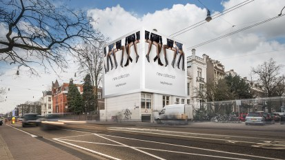 Steigerdoekreclame Eerste Constantijn Huygensstraat / Vondelstraat