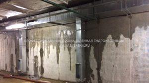 Протечка в паркинге Санкт -Петербург