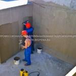 Устройство полимерцементной гидроизоляции ЛАХТА