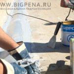 Монтаж гидроизоляционной ленты на деформационный шов