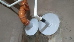 герметизация вводов труб в паркинге