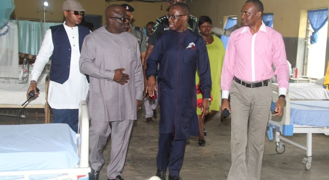 Okowa Pays Unscheduled Visit To Hospital In Delta,Ahead Full Kickoff Of CHIS Programme