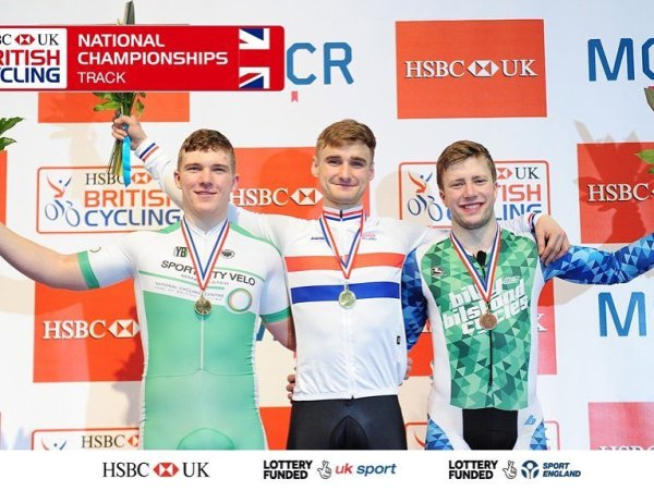 Tom Rotherham took SILVER in the kilo at British Cycling track Nationals.