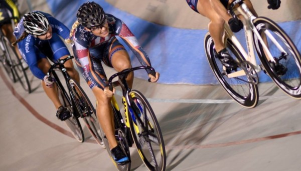 Missy Erickson took 1st in the International Omnium for women's 1/2/3 at the LAVRA Track Event. Unfortunately she was taken out with one to go at the Track World Cup, and did not finish.