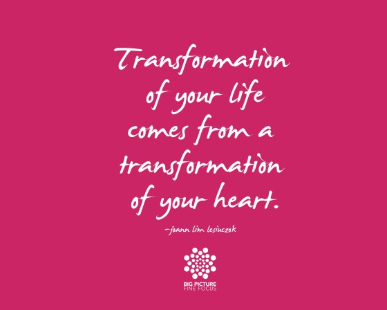 transformation of your life