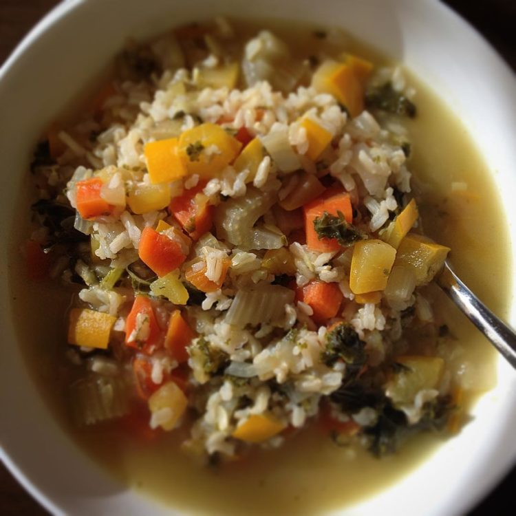 A very #delicious Veggie and rice soup. #cleaneating #foodie #bonappetit