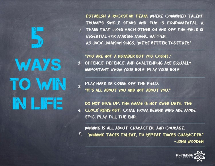 5 ways to win