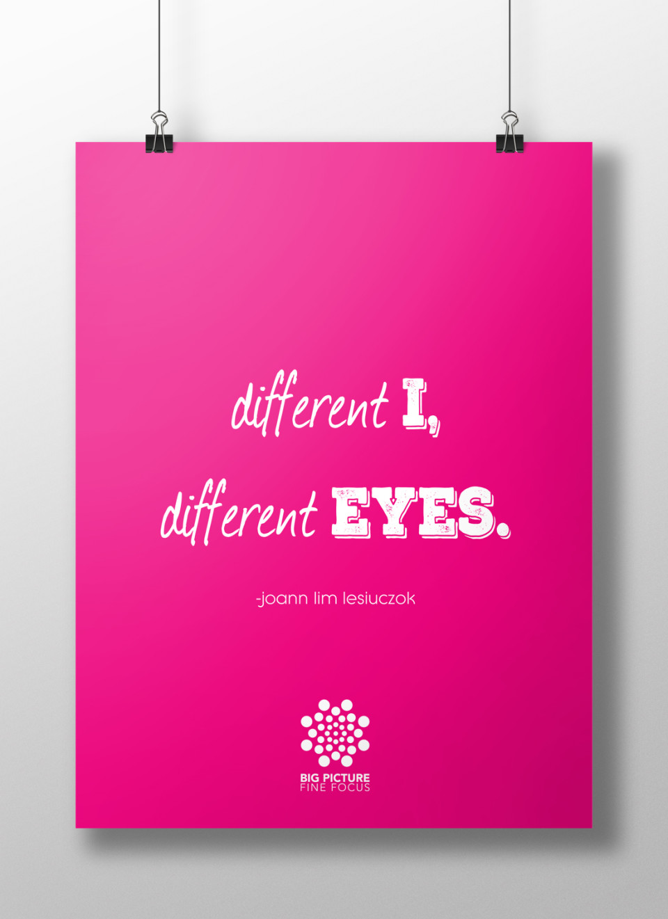 different I, different eyes poster