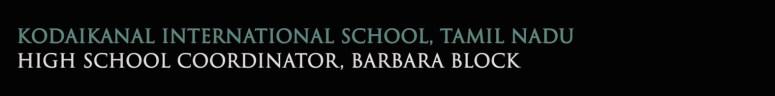 Kodaikanal International School India spring 2020