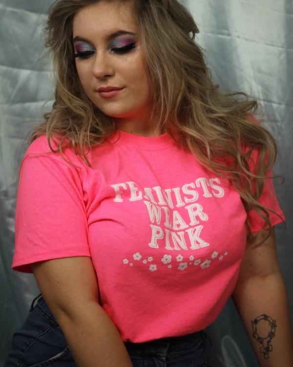 feminist-pink-cute-tee-shirt