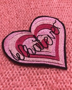 whatever-heart-pink-embroidered-patch-jacket-sew-on-patches