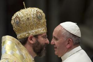 Archbishop Major and Pope Francis