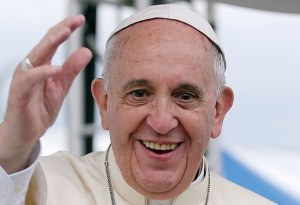 Pope Francis Smiling and Waving Original Pic