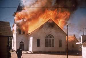 Church Fire Indiana Homosexual Lobby Anti Christian Bigotry
