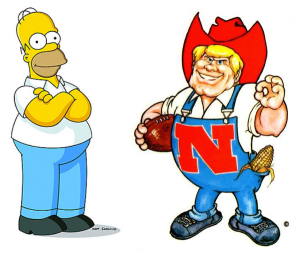 Homer Simpson and Herbie Husker