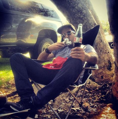 Josh Eating a Runza