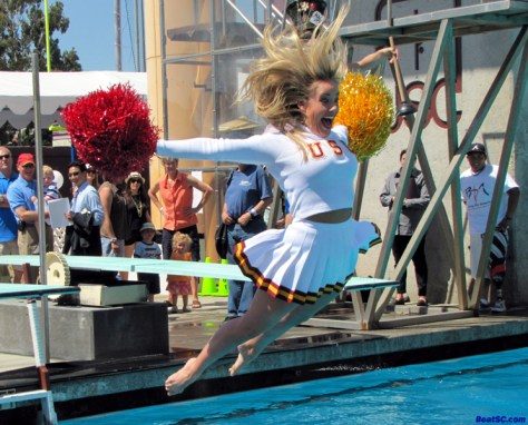 USC SONG GIRL DIVING BOARD