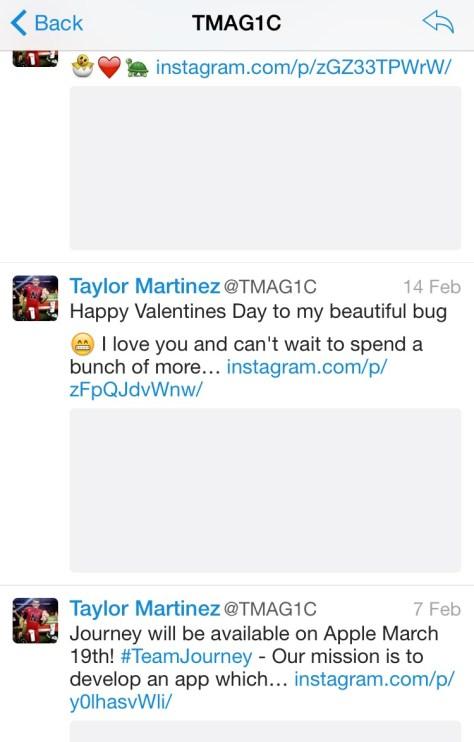 Taylor Martinez Twitter Stream