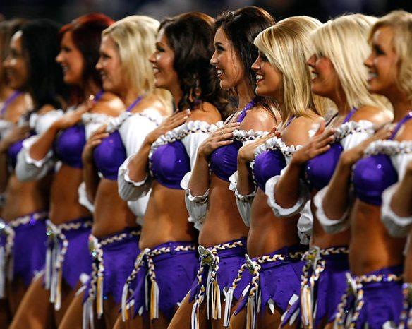 Gratuitous shot of cheerleaders.